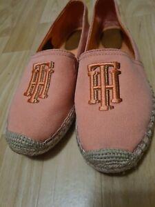 Tommy Hilfiger Knitted Espadrille Damen Slipper in Rosa