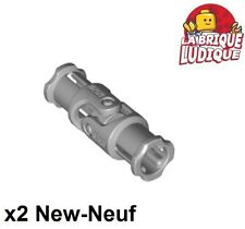 Lego technic - 2x cardan Universal Joint 3L gris/light bluish gray 62520c01 NEUF