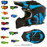 O'Neal 2series Slick blau schwarz Helm Crosshelm MX Motocross Cross HP7 Brille