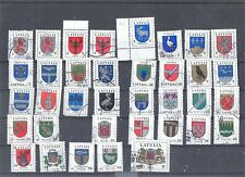 36 stamps with Latvian coats of arms.