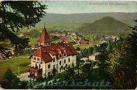 AK Karpacz (Krummhübel) Schles., Teilansicht mit dem Sanatorium, 02/04