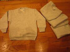 4 RABBIT SKINS Size 4 Kids Brand New Sweat Shirt Clothing Shirts Gray Blank Kid