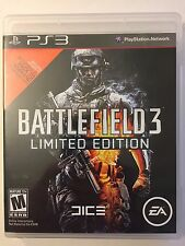 PS3 Battlefield 3 Limited Edition (Sony PlayStation 3, 2011) Rated M with Manual