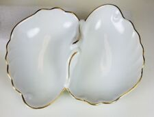Vintage Georges Briard Coquille D'Or Relish Double Dish