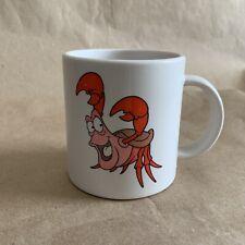 Vintage Little Mermaid Sebastian Mug DISNEY CHANNEL TV Promo 1990s Plastic Cup