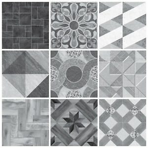Mosaic Tile Stickers Transfers Kitchen Black Grey Marble Wood Slate Effect - MS3