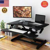 Sit-Stand Desk Computer Laptop Riser Height Adjustable Tabletop Standing Desk US