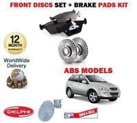FOR SSANGYONG KYRON ABS 2.0DT 2006-> FRONT BRAKE DISCS SET AND DISC PADS KIT