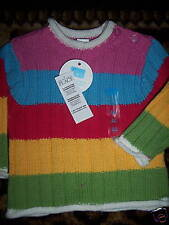 NWT TCP Children's Place Multi Stripe Sweater Petal 0-3months Rainbow colors NEW