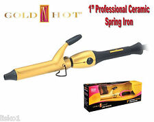 """GOLD N HOT GH2149  1"""" Professional Ceramic Spring Hair Curling Iron   LMS"""