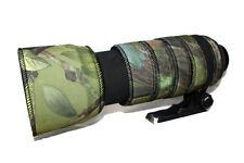 Nikon 80 400 Mm Vr Neopreno Lente protección Camuflaje Abrigo cubierta verde Camo