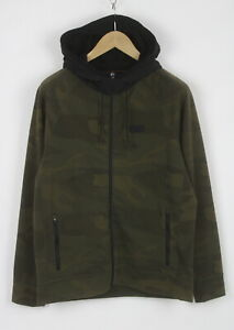 ABERCROMBIE & FITCH Men's Stretch Polyester Blend Camouflage Hoodie 26395-JS