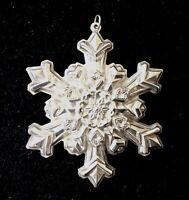 Gorham 1995 Christmas Snowflake Sterling Silver Ornament