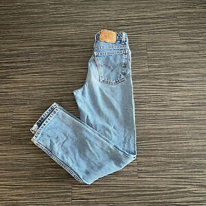 Vintage Levis Strauss Orange Tab 505 Denim Jeans Womens Mens 28x30 80's