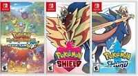 Pokemon Mystery Dungeon: Rescue Team Dx Bundled W/ ( Shield or Sword) New