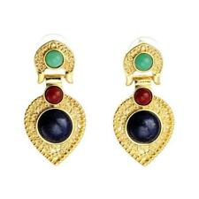 CG2579...GOLD PLATED & FAUX AGATE EARRINGS - FREE UK P&P