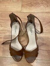 LK Bennett leather tan brown sandals heels shoes pumps size 41