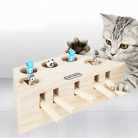 5 Holes Whack Mole Mouse Cat Exercise Interactive Teaser Toy Wood Puzzle Box