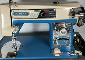 Vintage Morse Model 4300 Zig-Zag Domestic Sewing Machine w/ Case - Tested/Works