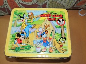 Vintage Original Mickey Mouse club lunch box with thermos