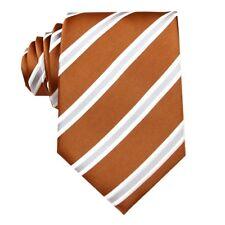 Light Tan Gray Striped 3.4'' Silk Jacquard Classic Woven Man's Tie Necktie FS97