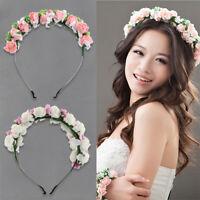 QA_ EG_ HK- Boho Women Garland Flower Floral Hairband Headband Festival Party
