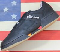 Ellesse Piacentino 2.0 Men's Leather AM Tennis Shoes Black/Orange/Red [6-10307]