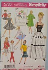 "Doll Clothing Pattern - Fits 11 1/2 "" Barbie - Vintage Remake 5785"