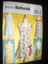 5 Vintage Aprons New Butterick 4945 Pattern Sizes 8-18