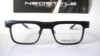 Neostyle Ican Large 49-20 140 Modernist Black Blue Eyeglass Frames Glasses Mens