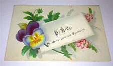 Antique Victorian Business / Calling Painter & Interior Decorator US Trade Card!