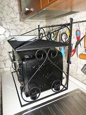 Mensola in ferro battuto rustica forno fornetto a microonde cucina salva spazio