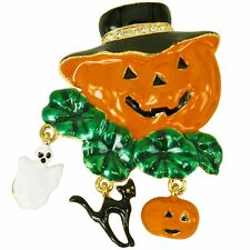 RUCINNI Halloween Pumpkin with Hat Brooch