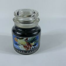 Yankee Candle Halloween Retired WITCHES BREW Medium 14.5 oz WHITE LABEL (used)