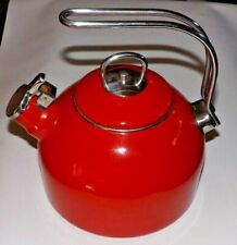 New listing Martha Stewart Collection Red Tea Kettle 2/5 Qts