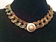 """MONET Link Necklace--Adjusts to  17""""--Vintage"""