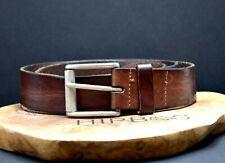 Vintage Mens Real Leather Belt Brown Size 36