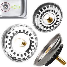 Premium Stainless Steel Kitchen Sink Strainer Drainer Replacement Waste Plug Kit