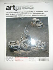 Art Press N°354 Marcley D. Graham Lewis Anne Wenzel Narkevicius McCarthy Barthes