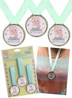 3 X Baby Shower Mum to Be Fun Game Party Accessory Winner MEDALS Prizes Gifts