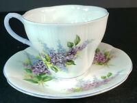Royal Albert Blossom Time Series Lilac Teacup and Saucer England Bone China