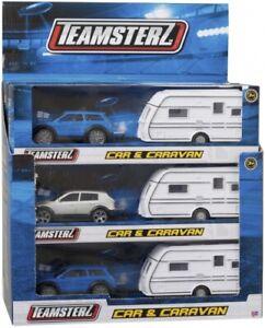 Official Teamsterz Die-Cast 4x4 SUV Car And Touring Caravan Set in CDU metal