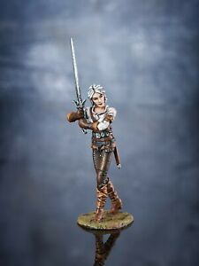 Toy Soldiers Fantasy Character Ciri Fiona Painted Miniature 54mm 1/32 scale