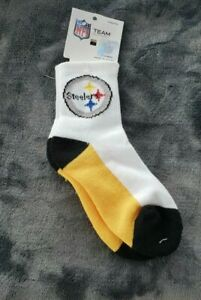 Pittsburgh Steelers Socks 501Quarter Length youth 9-13 1/2, 1 3 1/2, 4 to 8 year
