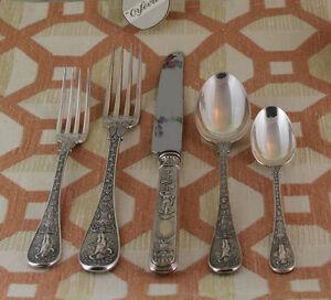 Sterling Silver Flatware 5-pc Place-Setting, 87- Montrésor