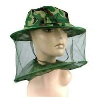 Mosquito Insect Head Net WITH HAT Wasp Bug Hat Mesh Camping Fishing Hat Camping