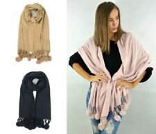 Patternless Rectangle Oversize Women's Scarves and Shawls