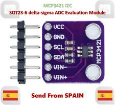 MCP3421 I2C SOT23-6 delta-sigma ADC Evaluation Module for PICkit Serial Analyzer