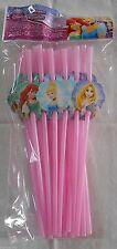 Party Straws DISNEY PRINCESSES Birthday Supplies 18 Pack S1