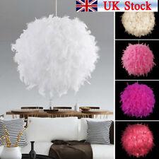 Modern Feather Ball Light Shade Ceiling Lighting Living Room Pendant Lamp HC